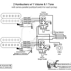 Push Pull Pot Wiring Diagram Remote Starter 2 Humbuckers/3-way Toggle Switch/1 Volume/1 Tone/series Parallel