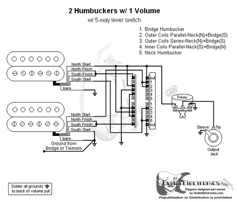 prs wiring diagram 5 way 2006 mitsubishi eclipse car radio 2 humbuckers/5-way lever switch/1 volume/06