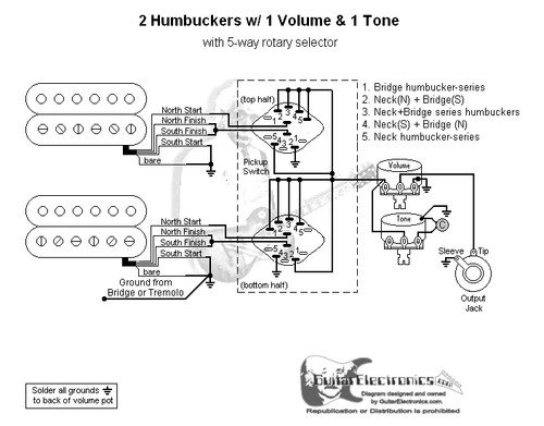 rotary switch wiring diagram guitar for tail lights r4623 auto electrical 2 humbuckers 5 way 1 volume tone 05
