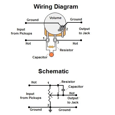 emg wiring diagram les paul piles pictures and symptoms diagrams volume treble bleed-bypass circuit w/ parallel resistor