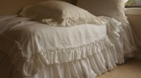 Ruffled Linen Sheets in Vintage Ruffle Style | Handcrafted ...