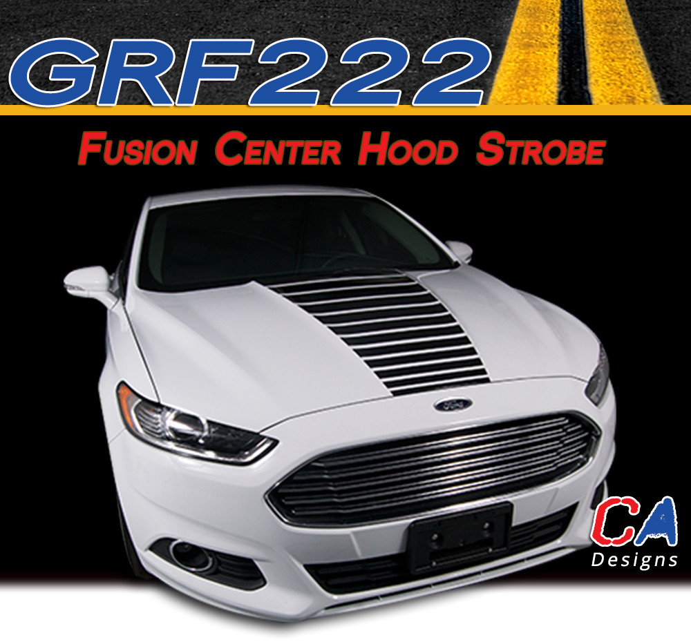 Crushed Ford Fusion Hood