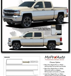cheyenne retro 2014 2018 chevy silverado mid body wrap accent graphic side vinyl  [ 866 x 1280 Pixel ]