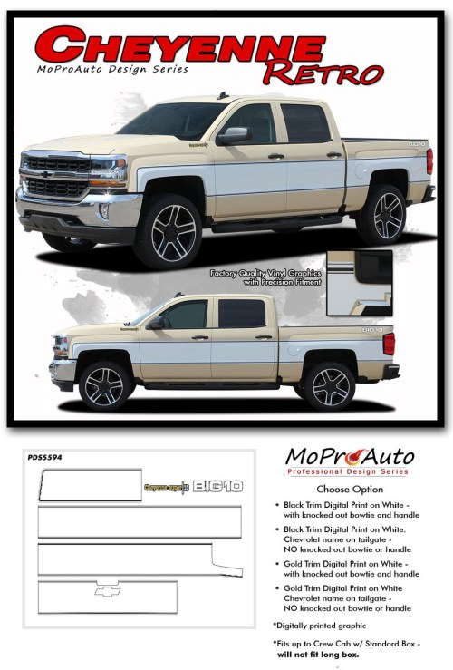 small resolution of  cheyenne retro 2014 2018 chevy silverado mid body wrap accent graphic side vinyl