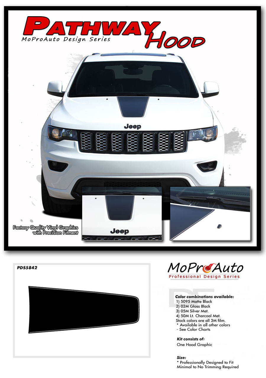 Jeep Grand Cherokee Hood Decals : grand, cherokee, decals, 2011-2019, PATHWAY, Grand, Cherokee, Center, Decal, Vinyl, Graphic, Stripes