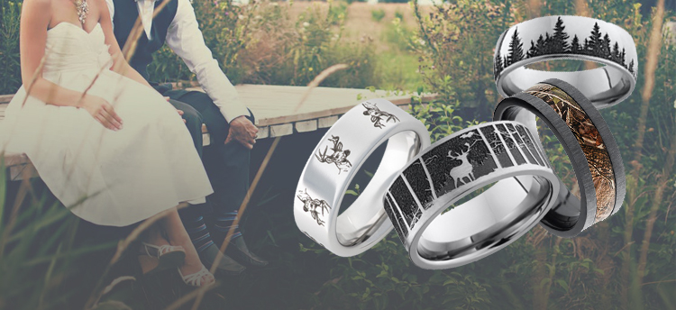 Camo Wedding Rings, Promise Rings, and Gifts