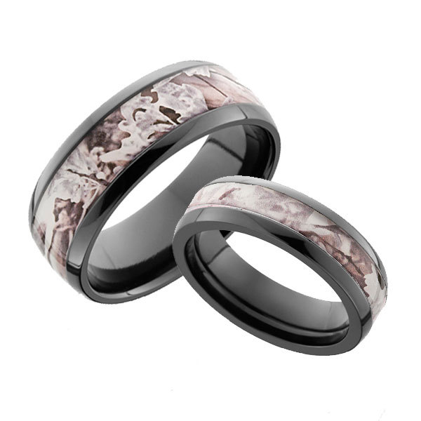 Camo Wedding Rings For Him And Her Best Custom Wedding