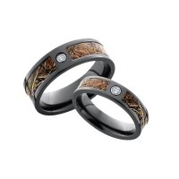 His and Hers Camo Wedding Ring Sets