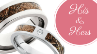 His and Hers Camo Wedding Ring Sets - CAMOKIX