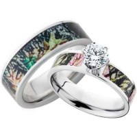 His and Hers CZ Camo Wedding Ring Set | Free Shipping ...