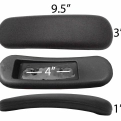 Desk Chair Arm Pads Homedics Reclining Massage Replacement Office Task Rest Pad S1697 1