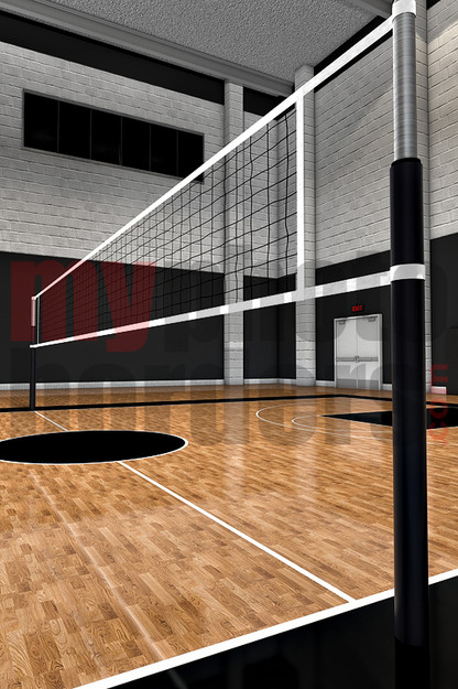 Digital Sports Background Volleyball Court