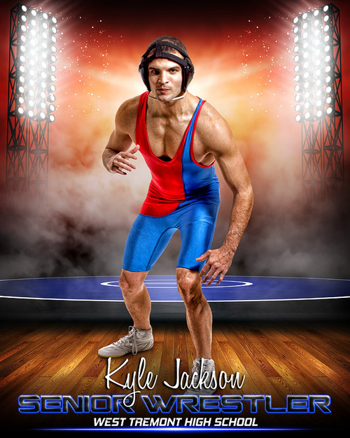 Sports Poster Photo Template For Wrestling Prime Time Wrestling