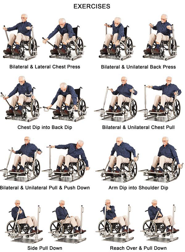 Chair exercises for elderly people