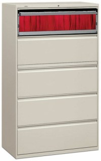 "Lateral File Cabinet - HON 42"" 5 Drawer Lateral File ..."