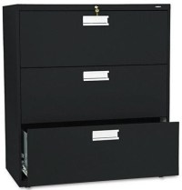"3 Drawer File Cabinet - HON 36"" Lateral 3 Drawer File ..."