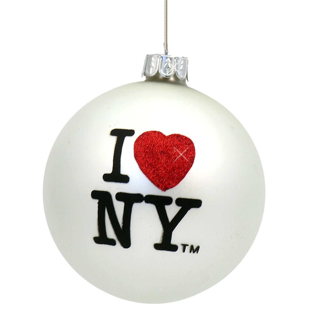 Glass Ball I Love NY Christmas Ornaments From New York City