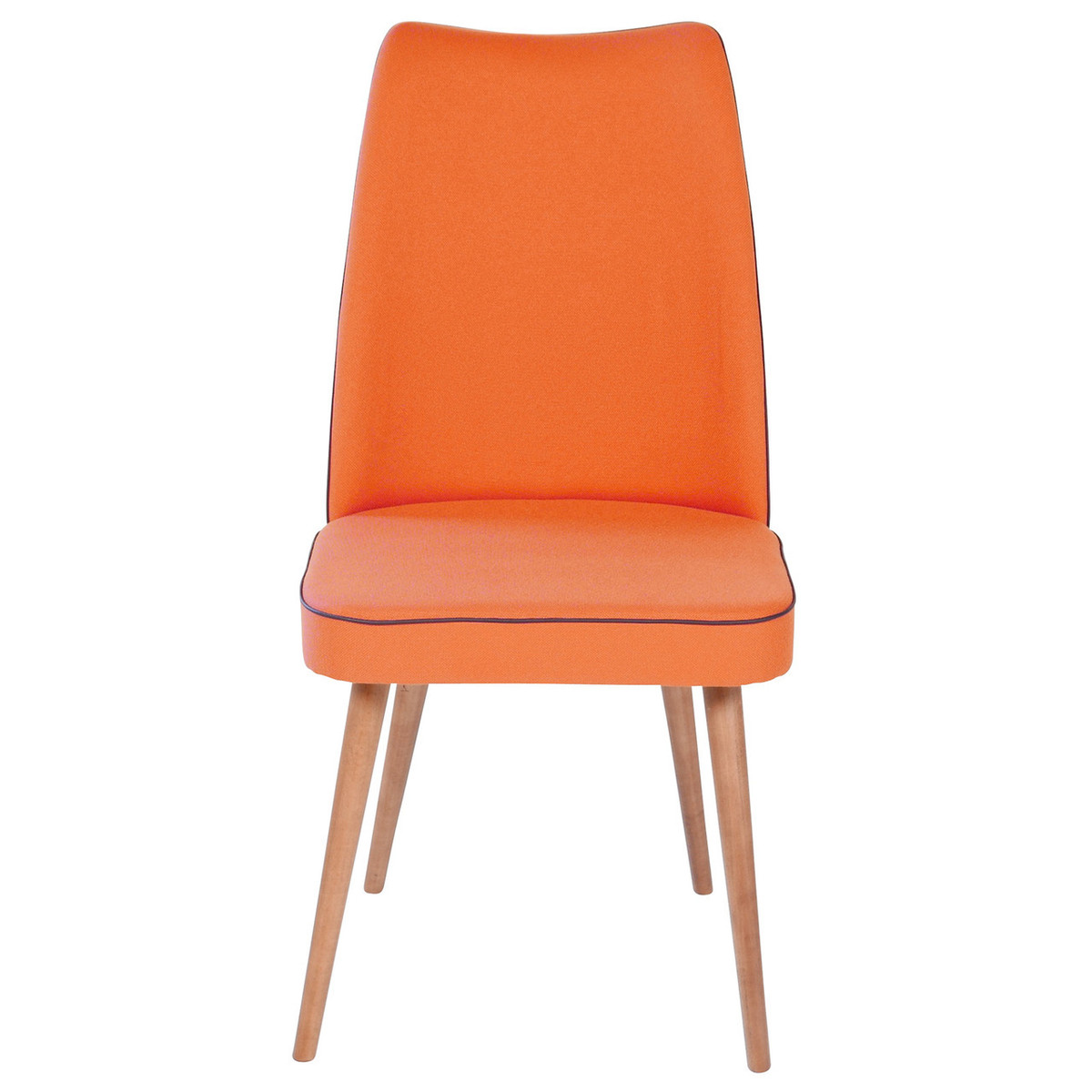 orange upholstered chair extreme gaming mid century modern dining with