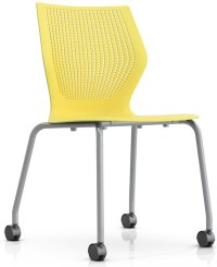 Knoll MultiGeneration Armless Mobile Stacking Chair ...