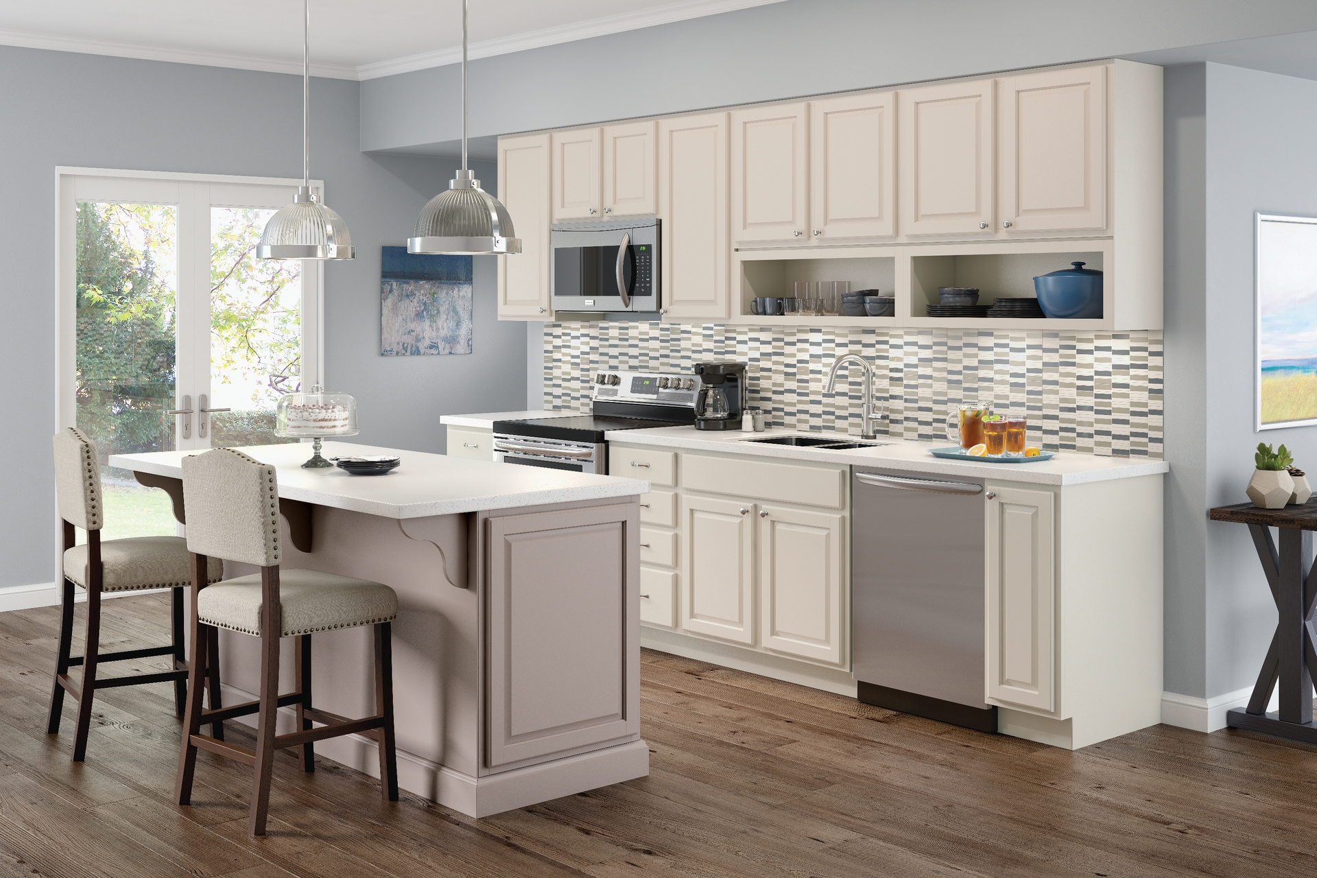 Cardell Kitchen Cabinets  Sharon Hill Square in Moonshine