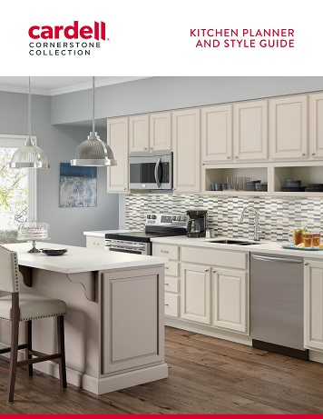 kitchen planner chair pads for chairs cardell cabinetry literature cornerstone collection
