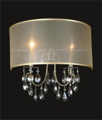 2 Light Crystal Wall Sconce With Golden Teak Shade MB8476/2ANB