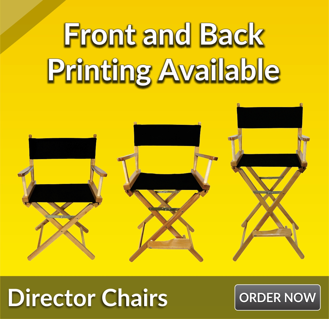 directors chair covers big w backpack folding trade show table custom tablecloths retractable