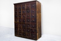 Large Antique Multi-Drawer Storage Cabinet. C.1890s ...