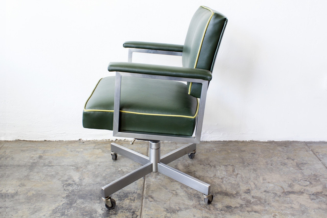 steelcase vintage chair comfy reading chairs sold 1970s office refinished green
