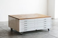 {Spotted} Repurposed Vintage Flat File Cabinets
