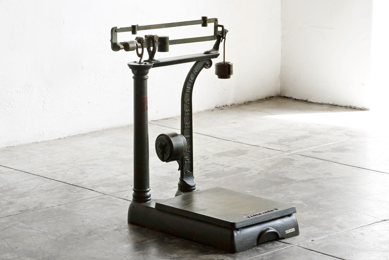 SOLD Antique Fairbanks Platform Scale With Weights