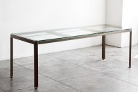 Angle Iron and Glass Industrial Conference/ Dining Table ...