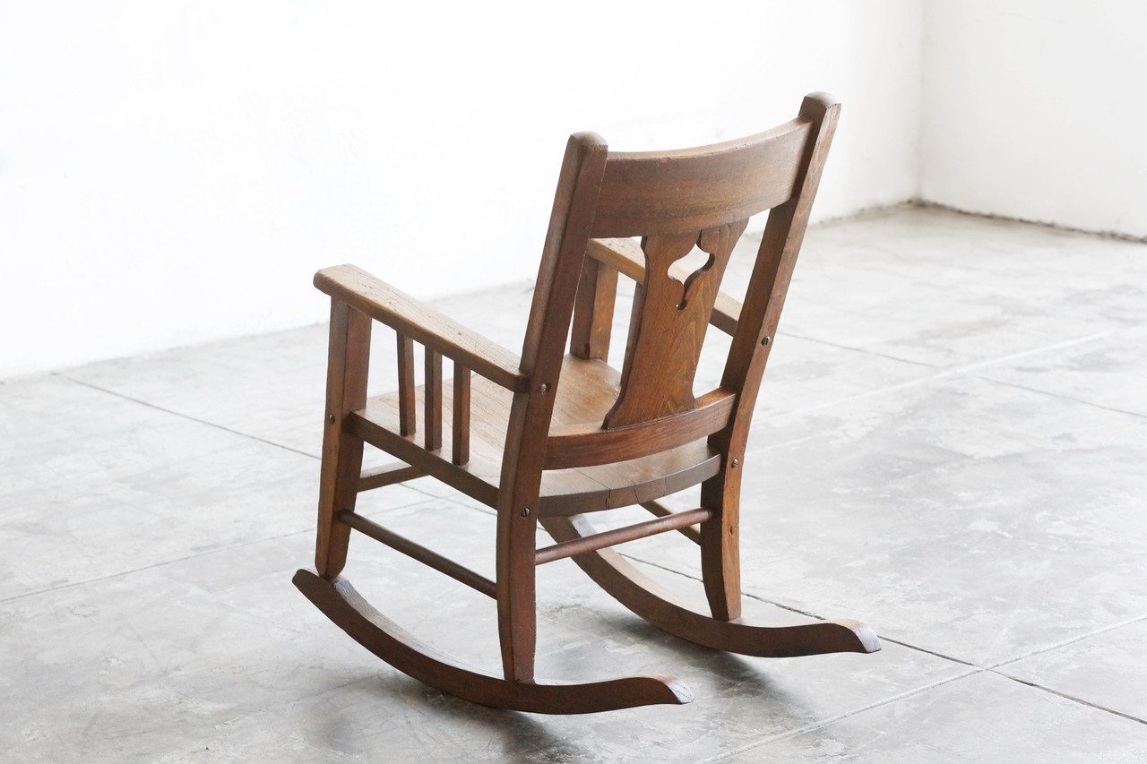 oak rocking chair plans mid century modern dining chairs set of 4 sold craftsman era child 39s solid wood