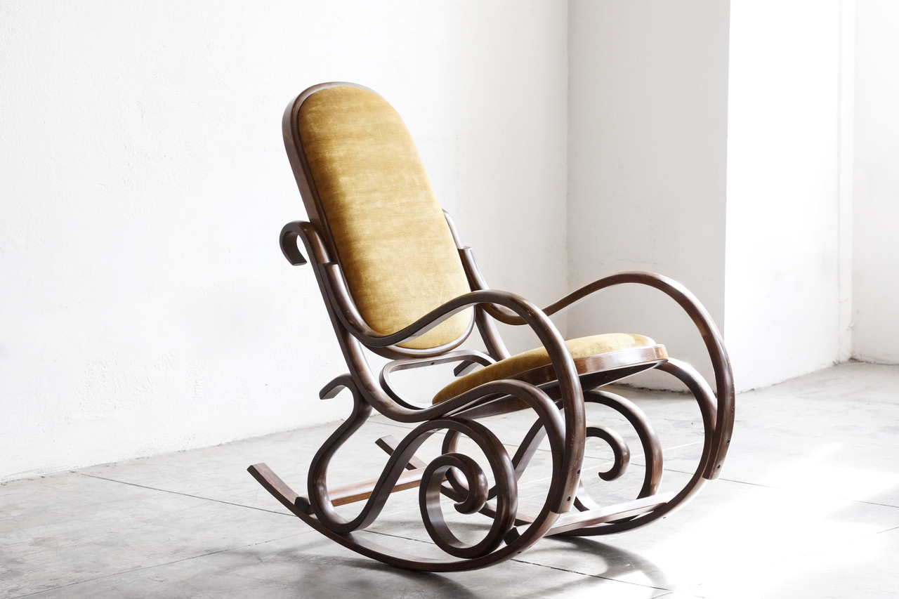 SOLD  Thonet Style Bentwood Rocking Chair  Rehab Vintage