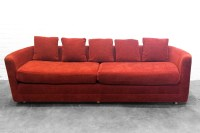 Rust Colored Sofa Madison Home Chesterfield Linen Tufted ...