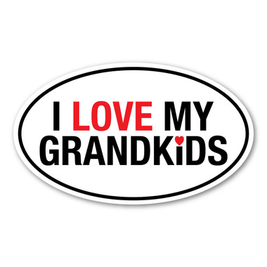 Download I Love My Grandkids Oval Decal | Magnet America