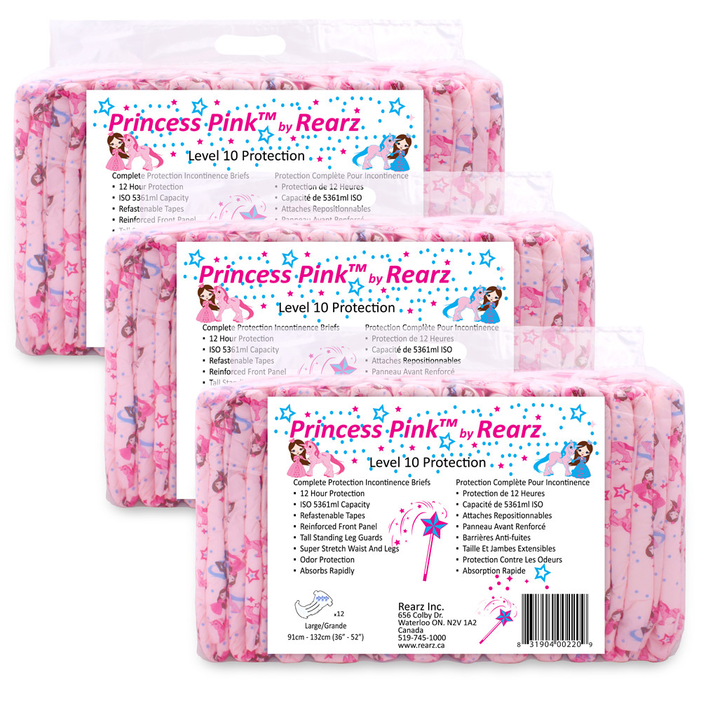 Rearz Princess Pink Adult Baby Diapers
