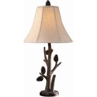 Pine Cone Twig Table Lamp | Crestview Pinecone Lamp