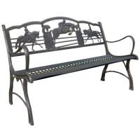 Horse Bench | Garden | Steel | Cricket Forge