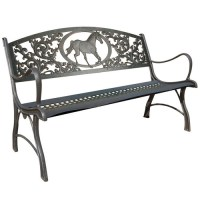 Horse Bench | Equestrian | Cast Iron |Painted Sky