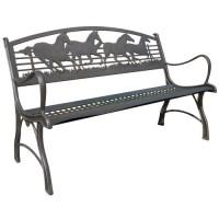 Horse Bench | Cast Iron | Garden | Painted Sky