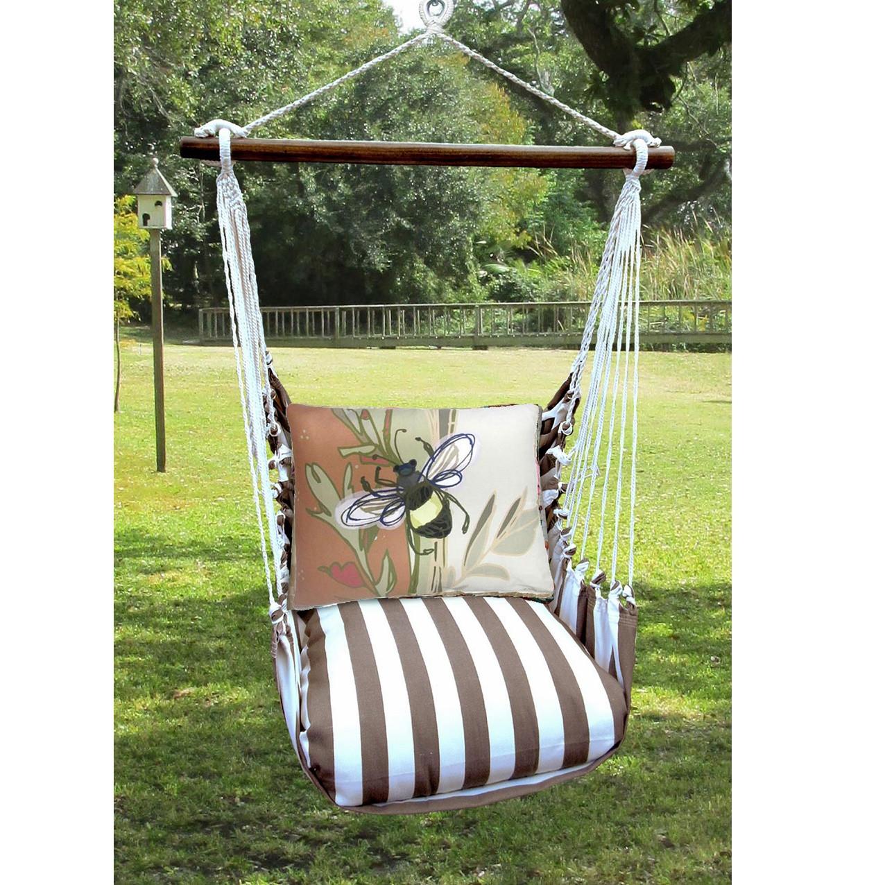 hanging chair big w elbow stool bee hammock swing magnolia casual
