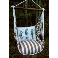 Hanging Chair Big W Kitchen Chairs For Sale Sea Horse Striped Hammock Swing Magnolia Casual