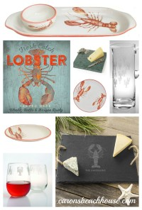 Meet our Lobster Dinnerware! - Caron's Beach House