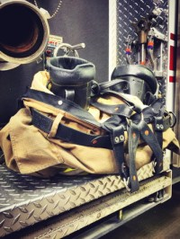 """Firefighter Leather Suspenders, NO BUCKLES """"FITTED"""" custom ..."""