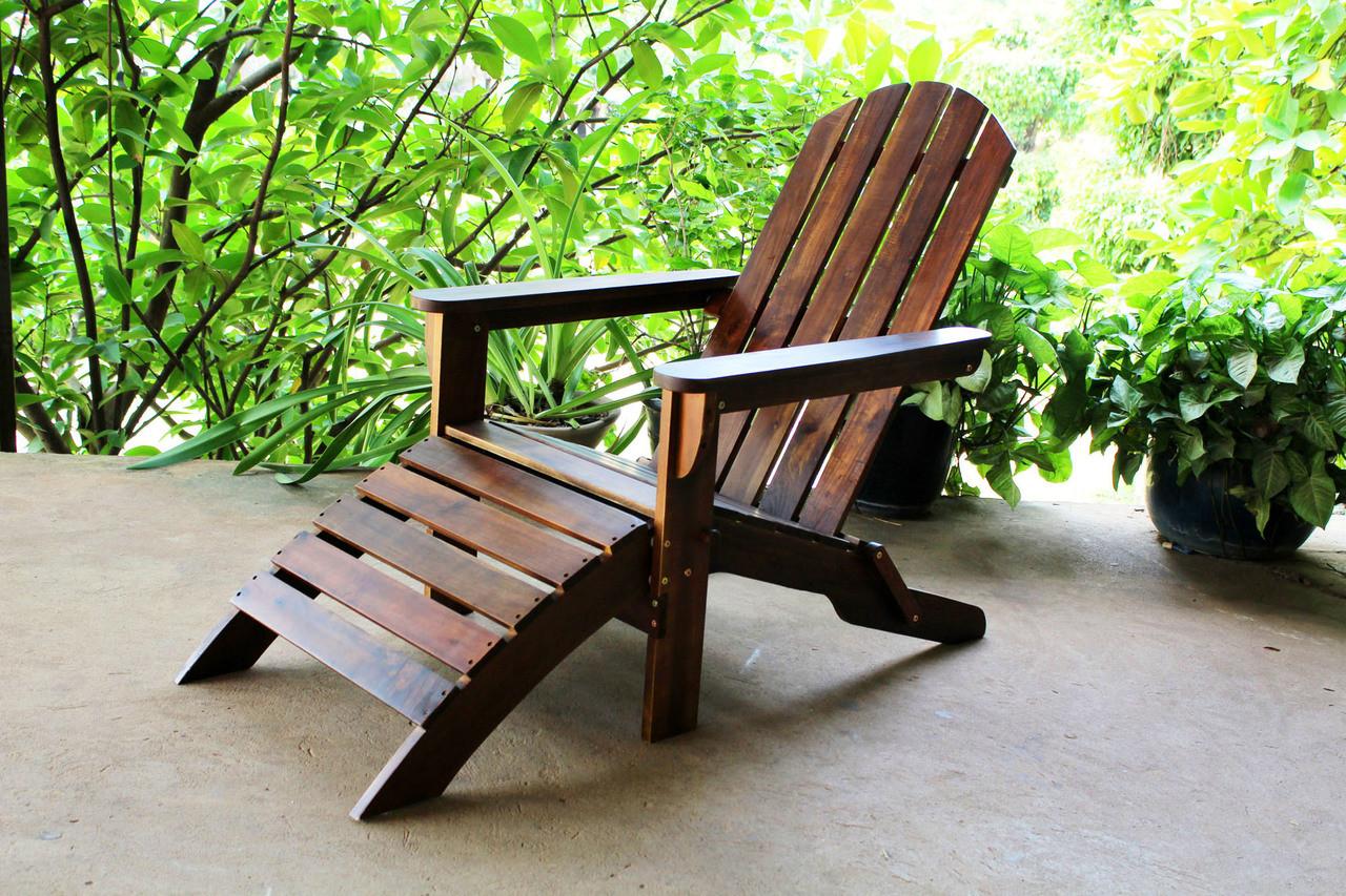patio chairs with footrests heavy duty beach chair international caravan highland adirondack