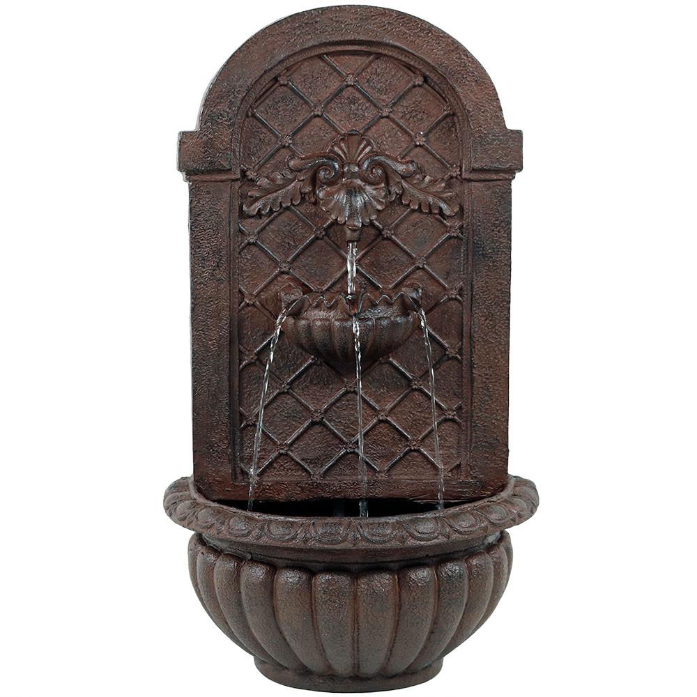Sunnydaze Venetian Outdoor Wall Water Fountain, Includes ...