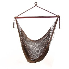 Hanging Chair Big W Solid Wood Dining Chairs Made In Usa Sunnydaze Caribbean Xl Hammock