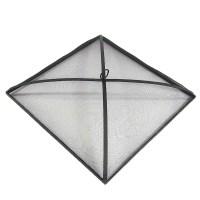 Square Fire Pit Spark Screen, Black, Durable Steel Mesh ...