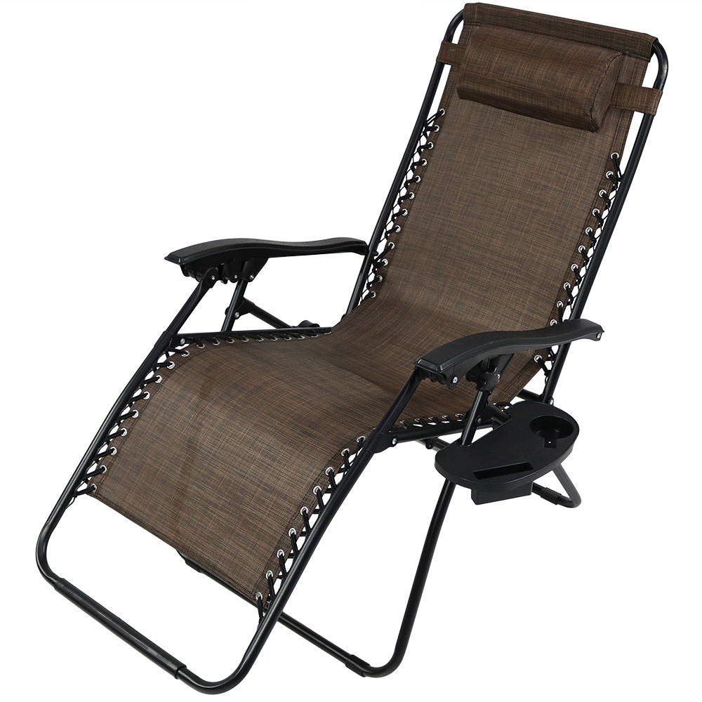 Oversized Zero Gravity Lounge Chair wPillow  Cup Holder